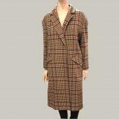abrigo largo cuadros essentiel