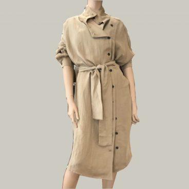 chaqueta larga lino american vintage
