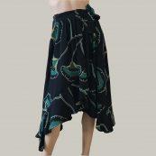 falda estampado en verde bash