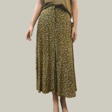 falda-verde-estampado-floral samsoe