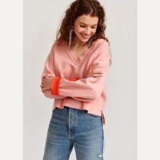 jersey-rosa-cuello-en-V essentiel
