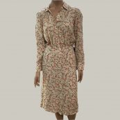 vestido camisero midi floral hoss